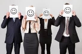 Caras felices en Oficina