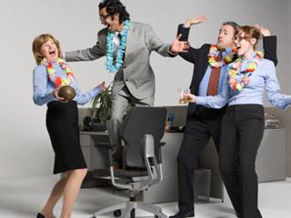 alegria en la oficina