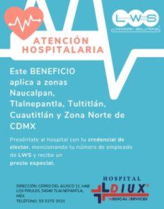 BENEFICIOS lws hospital atencion hospitalaria LWS zona centro