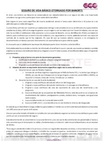 COMUNICADO SEGURO DE VIDA BANORTE lws todos somos lws beneficios colaboradores