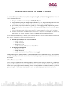 COMUNICADO SEGURO DE VIDA general seguros lws todossomolws